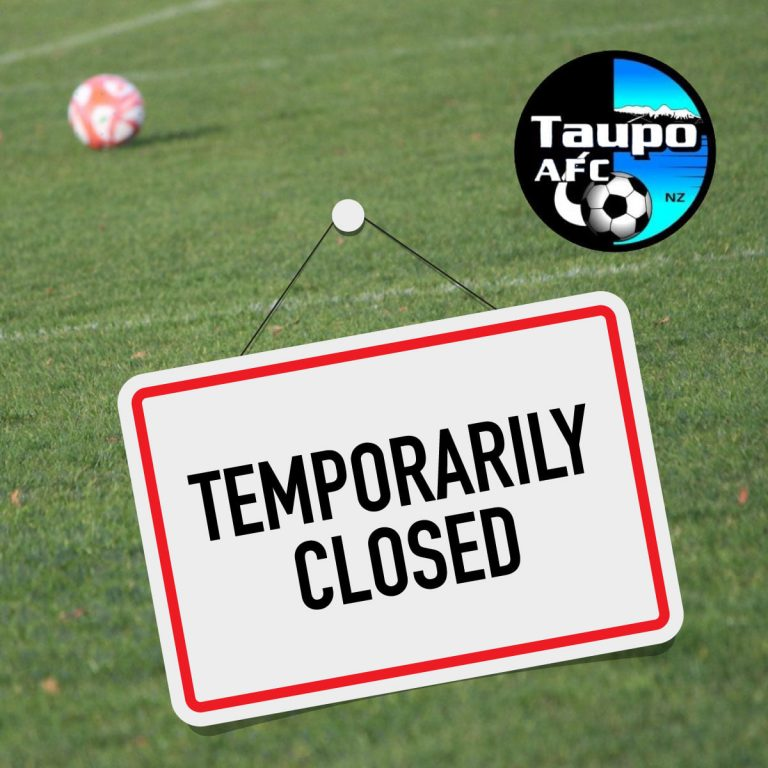 Club closed, no training or games in Level 4 Lockdown